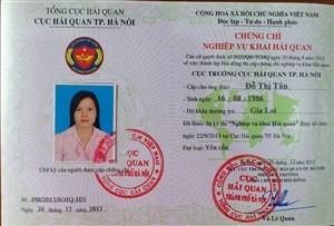 Chứng chỉ Khai hải quan điện tử (0946868906)