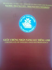 Mẫu chứng chỉ tiếng anh b1 b2 do trường ĐH Thái Nguyên cấp (0946868906)